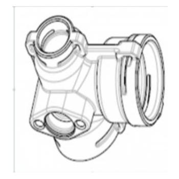 Адаптер подключения трубы реле давления NAVIEN EQB 08-24HW (20037885A)